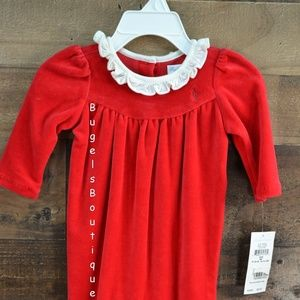 Ralph Lauren Red Velour Onsie Outfit Size 3 Month